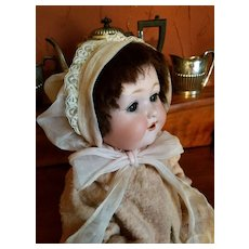 Vintage Pale Pink Organdy Baby Doll Bonnet