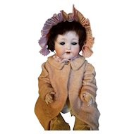 Vintage Pink Taffeta Doll Bonnet