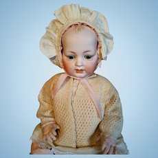 Vintage Cream Silk Baby Bonnet