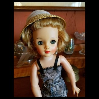 Original Straw Hat for Miss Revlon Doll