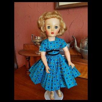 Vintage Cotton Print Dress for a 50's Fashion Doll