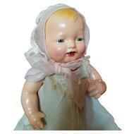 Vintage Pink Organdy Doll Bonnet