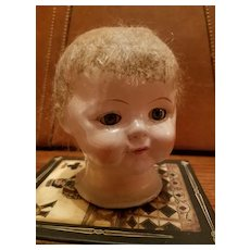 Early Composition Doll Head