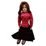 Antique Bisque Lady Doll in Antique Clothing