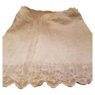 Antique White Embroidered Material