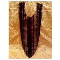 Antique Velvet and Taffeta Dress Insert