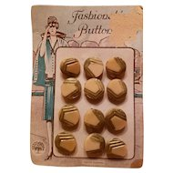 Vintage Glass Buttons on Card