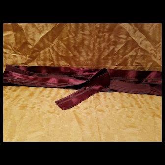 Antique Brown Satin Ribbon