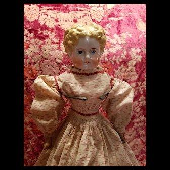 Antique Blonde China Head All Original