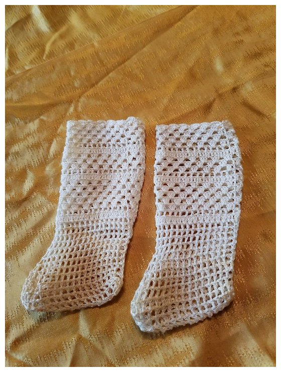 Vintage Crochet Doll Stockings Micheles Antique Dolls Ruby Lane
