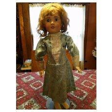 Vintage Brocade Doll Dress