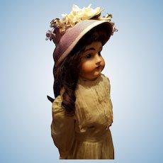 Vintage Lavender Straw Bonnet