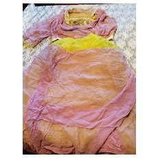 Antique Two Piece Chiffon Dress for Material