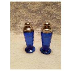 Depression Glass MODERNTONE Salt and Pepper Shakers