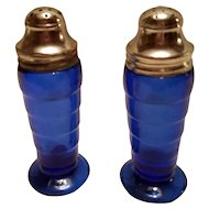 Depression Glass MODERNTONE Salt and Pepper Shakers