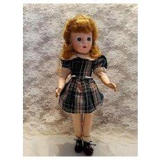 Hard Plastic Girl in Plaid Cotton Dress