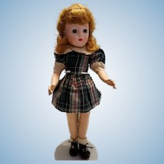 Hard Plastic Girl in Plaid Cotton Dress