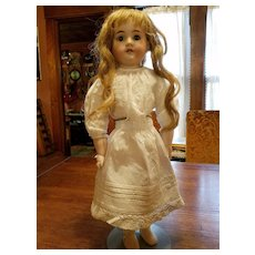 Antique Doll Slip Heavy Cotton with Crochet Edge