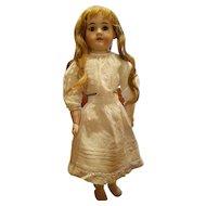 Antique Doll Slip Heavy Cotton with Crochet Edge