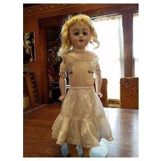Antique White Cotton Doll Slip with Drawstring Waist