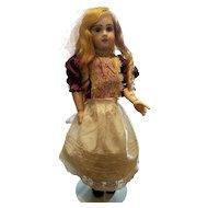 Antique Doll Slip Heavy Cotton with Lace Trim
