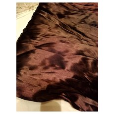 Vintage  Brown Satin Material