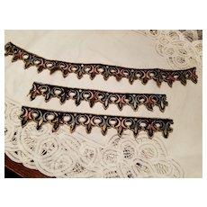 Antique Embroidered Silk Trim