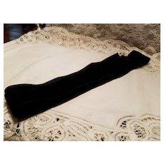 Antique Black Velvet Ribbon with Silk Backing
