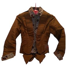 Victorian Brown Taffeta Jacket