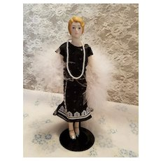 Vintage Bisque Flapper Doll