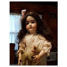 Antique Bisque Pansy Doll Original Dress