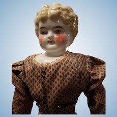 Antique Blonde Apple Cheek China Head