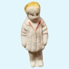 Antique Miniature Bisque with Molded Clothes