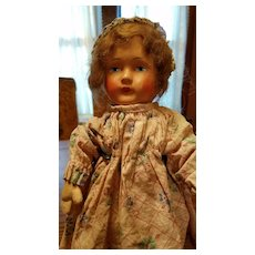 German Papier Mache Doll from 1920's