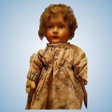 German Papier Mache Doll from 1920's