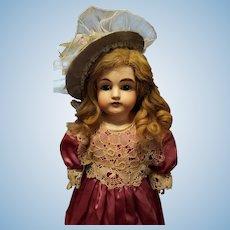 Antique Bisque Kestner 154 in Antique Satin Dress
