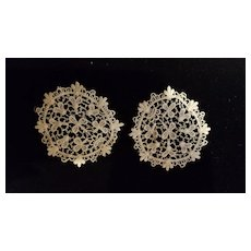 Antique Tatting Lace Medallions