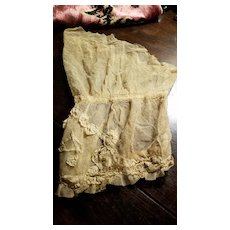 Antique Net Dress Sleeve with Lace Work