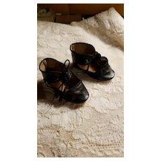 Antique Leatherette Doll Shoes