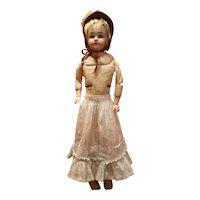 Antique Windowpane Cotton Doll Skirt