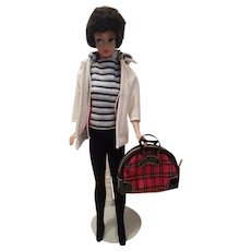 Vintage Bubble Cut Barbie in Winter Holiday Fashion