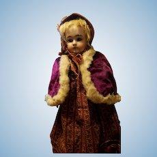 Antique Purple Velvet Doll Cape