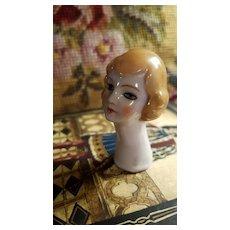 Vintage  Flapper Style Pincushion Head