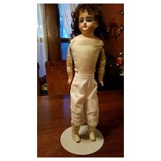 Antique White Cotton Doll Pantaloons with Tatting