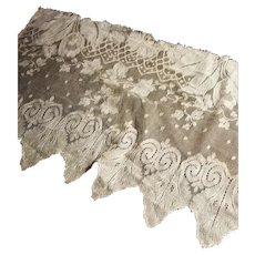 Antique Cream Lace Panel