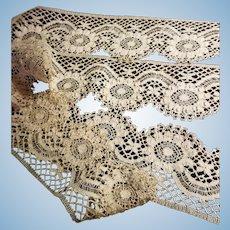Antique Ecru Crochet Lace