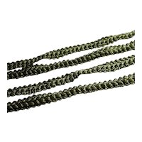 Antique Green Crochet Braid Trim