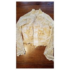 Antique Lace and Net Blouse for Material