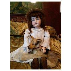 Antique Bisque Kestner 146 Life Size in Antique Dress
