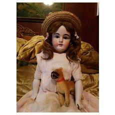 Antique Bisque Kestner 154 in Original Antique Dress